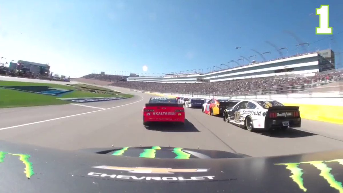Go for a ride with some of your favorite drivers as we take a look back at Sunday's race from @LVMotorSpeedway. 🎥