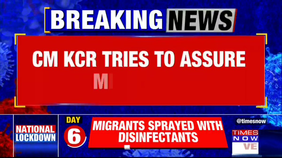 #Breaking | @TelanganaCMO K. ChandrashekarRao appeals to the migrant workers to 'stay put'; says 'you're like our family'.  Details by TIMES NOW's Paul Oommen. | #IndiaWithMigrants