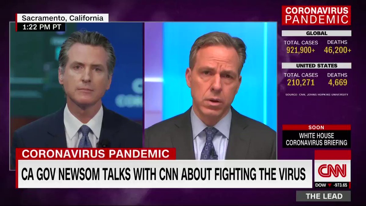 """""""These are the tests that have already been conducted and we're just waiting for the results. It's incredibly frustrating,"""" California Gov. Gavin Newsom says about the coronavirus test backlog in his state. """"You're having results that take six, 10, 12 days in some cases."""""""