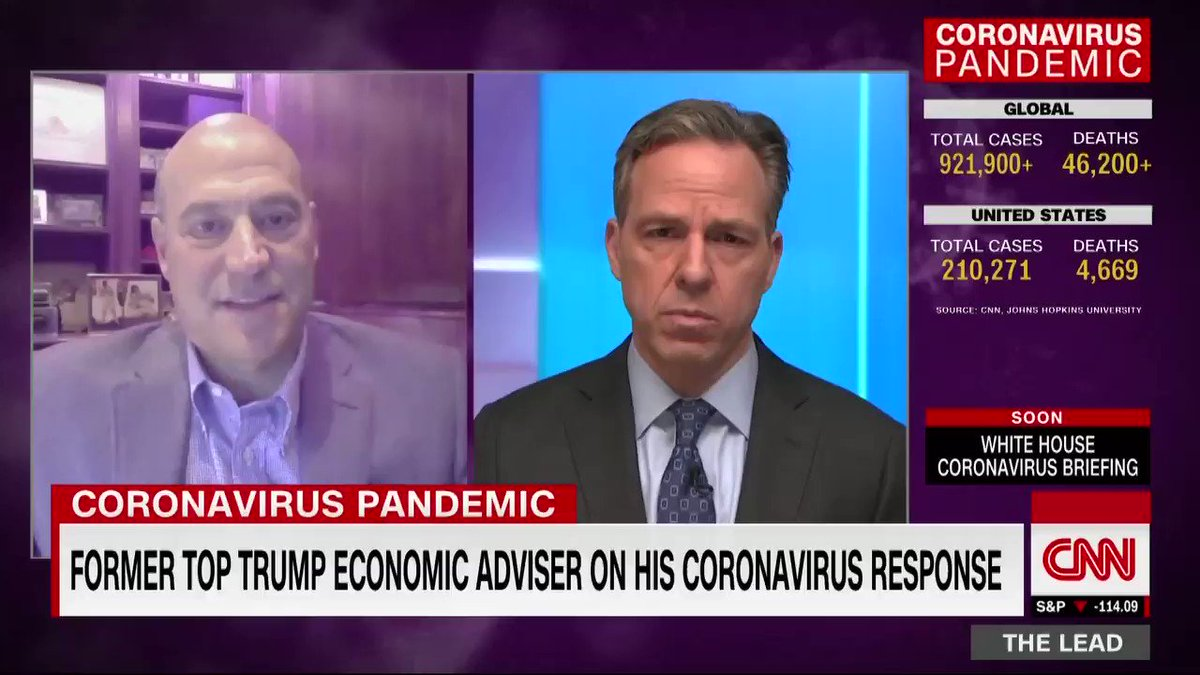 """Former Trump economic adviser Gary Cohn on the coronavirus stimulus bill: """"That money needs to get out very quickly. Once that money gets out and once we know how long we're going be in social distancing … we'll be in a better position to know what to do next."""""""