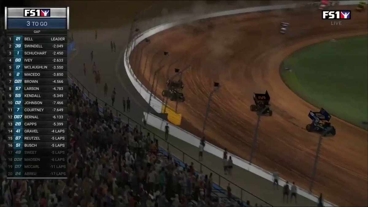 RETWEET TO CONGRATULATE @CBellRacing ON HIS WORLD OF OUTLAWS @iRacing WIN!  That was awesome.