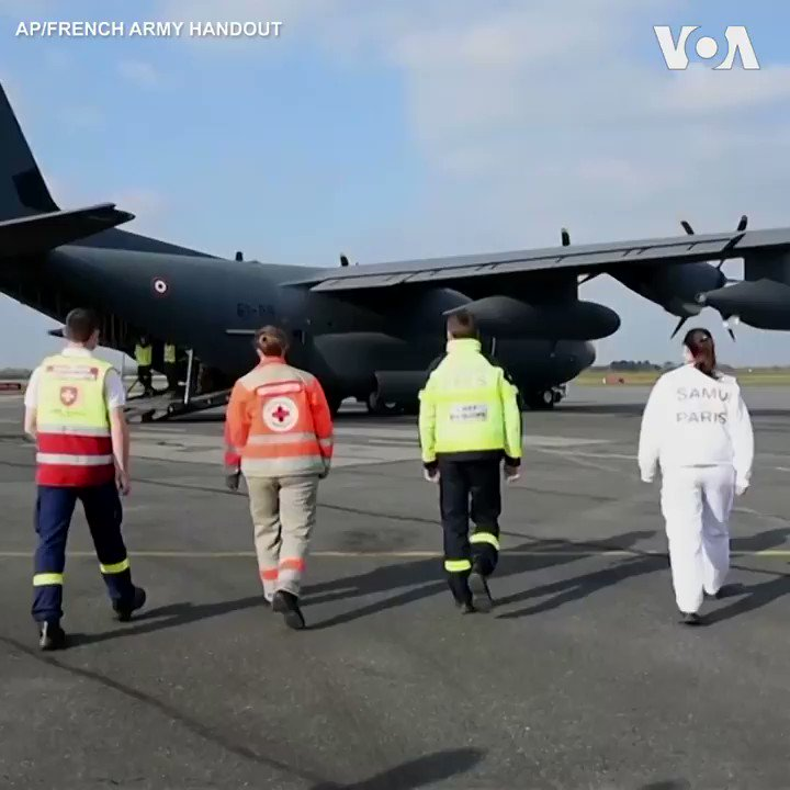 CORONAVIRUS:  ▶️ 🇫🇷 Medical teams from various regions in France are transferred by military planes Thursday to Paris as the number of coronavirus cases keeps on increasing in the French capital.  👉 France has a total of 56,989 confirmed cases and 4,031 deaths. (AP)