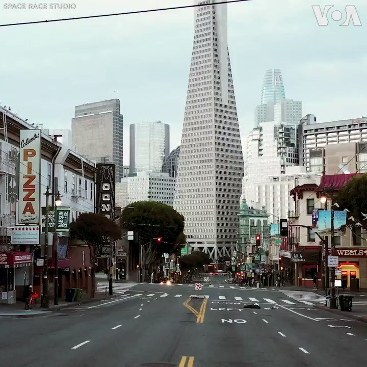 CORONAVIRUS  Drone footage shows the empty streets of San Francisco since California declared a state of emergency on March 4 due to the coronavirus pandemic.  California alone has over 9,000 confirmed coronavirus cases and over 200 deaths.  (Video Courtesy: Space Race Studio)