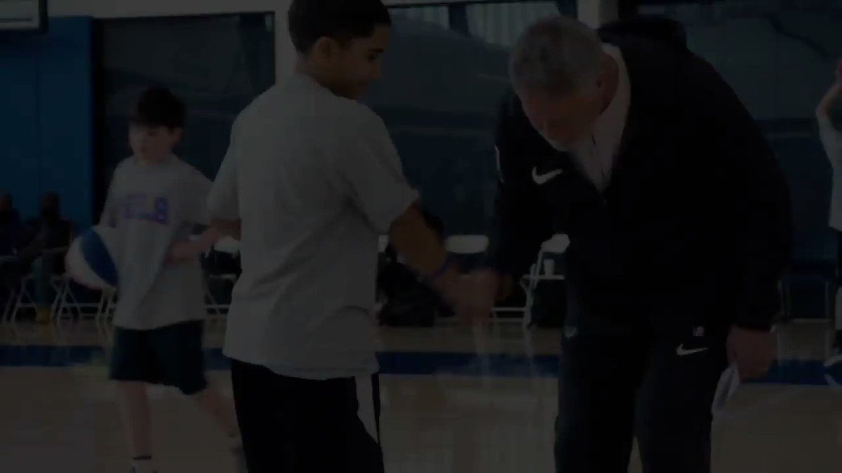 #ThrowbackThursday to Coach Brett Brown's 3rd annual basketball clinic for children with autism in 2019!   Coach Brown has partnered with Bounce Out the Stigma for years helping young athletes with special needs. #WorldAutismAwarenessDay #ActsofCaring #NBATogether