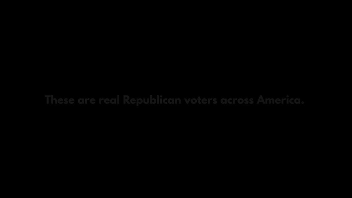 New ad will run on Fox Tues.  These Republican voters share their disappointment in Trump's leadership. If you agree, sign up here and contribute to the next video.