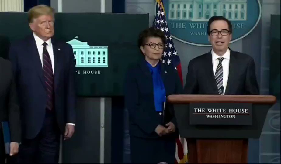 "Sec. Steven Mnuchin: ""If we don't have your direct deposit information, we'll be putting up a web portal so that you can put that up."""