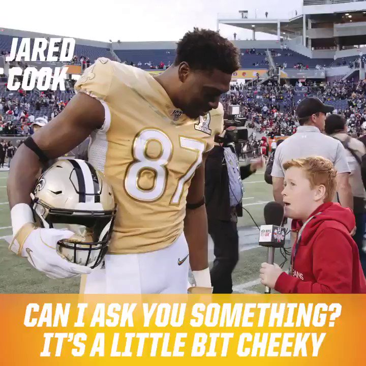 Happy Birthday @saints Tight End @jaredcook89 🎉  A proper gent with @braydonbent at Pro Bowl.  You still got that @mancity jersey? 👀