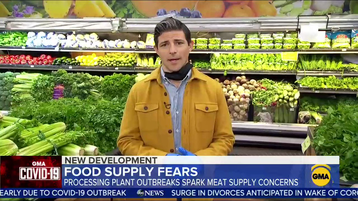 Food supply fears begin as processing plant outbreaks spark meat supply concerns. @mattgutmanABC has the details.