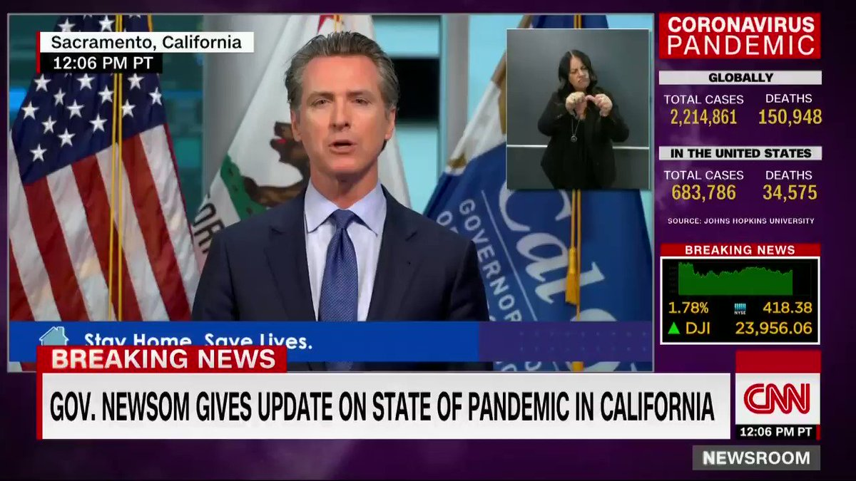 California Gov. Gavin Newsom announces an economic recovery committee that includes four former governors including Jerry Brown and Arnold Schwarzenegger and executives such as Apple CEO Tim Cook. It will be chaired by former presidential candidate Tom Steyer