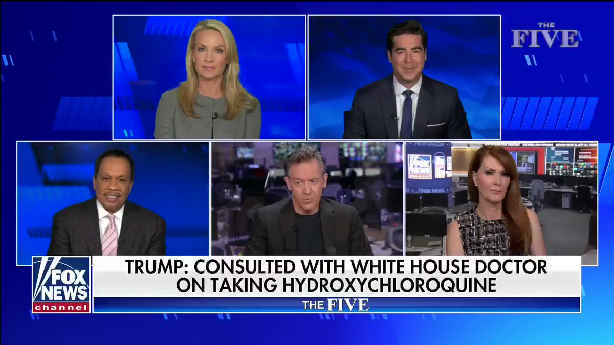 """""""I think we are making a little too big deal out of this like we always do when it comes to hydroxychloroquine. I don't understand why it's been politicized like it has."""" #TheFive"""