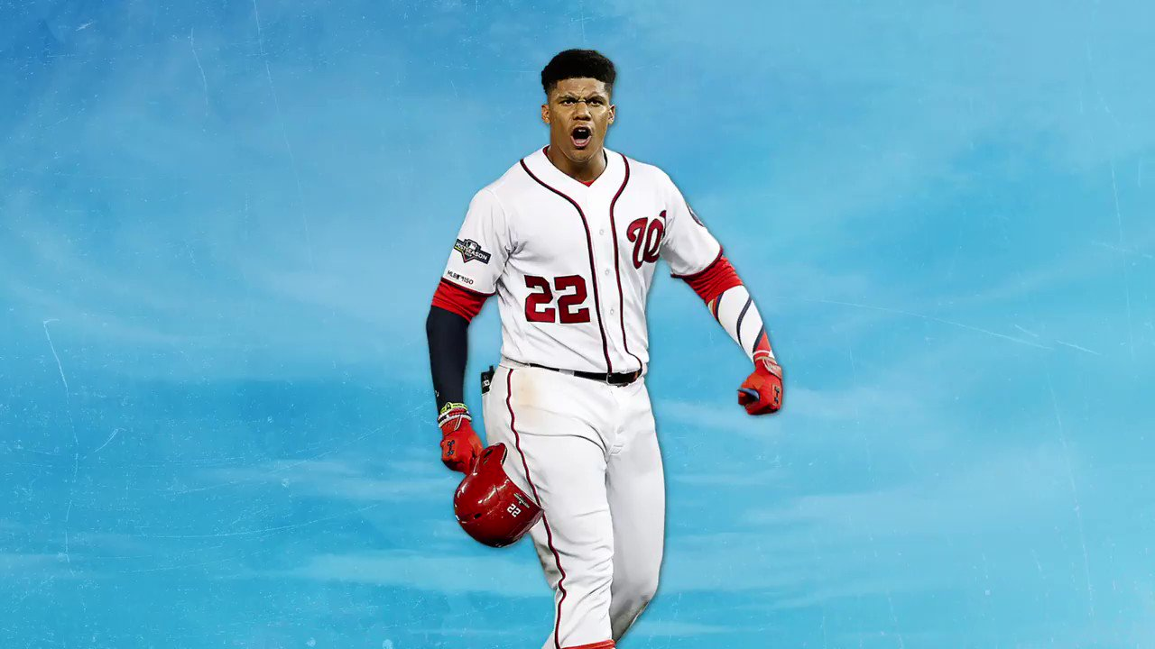 The Greatest Comeback Team in @MLB History™  World Series Champion Juan Soto was only 20 years old when he got the game-winning hit in the NL Wild Card Game.  @JuanSoto25_ // #NATITUDE https://t.co/A9Vv0R5QBJ
