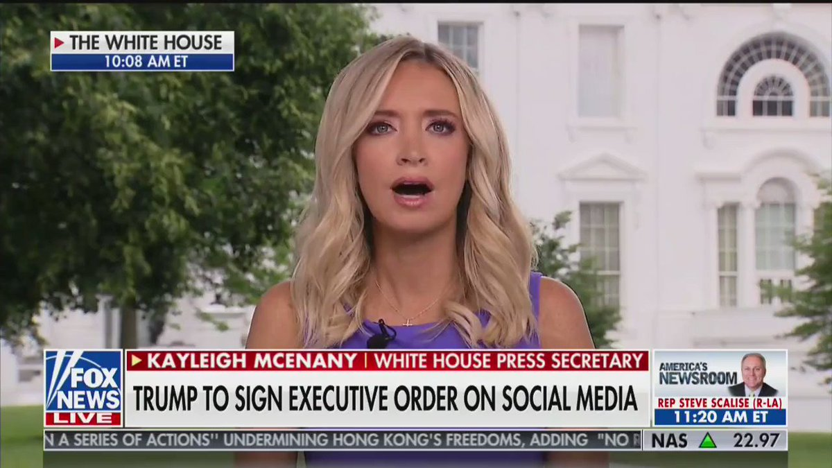 White House Press Secretary @KayleighMcEnany: Twitter won't Fact Check Chinese propaganda blaming #Coronavirus on the U.S. military, but they find the time to Fact Check (in a wrong way) President @realDonaldTrump