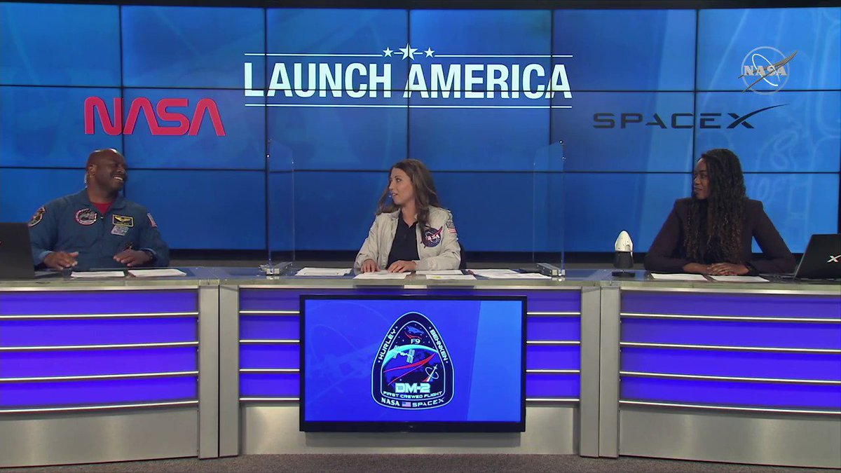 """""""American astronauts on American rockets from American soil, showing you what Americans can do when we come together as a team."""" — @Astro_Flow on the #LaunchAmerica mission:"""