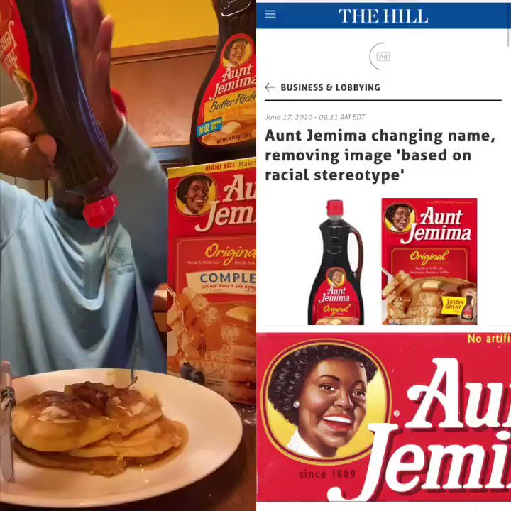 They are banning Aunt Jemima  I'm done! I can't deal with this!  Leave Aunt Jemima alone.  Who else think this is ridiculous?  #SaveAuntJemima