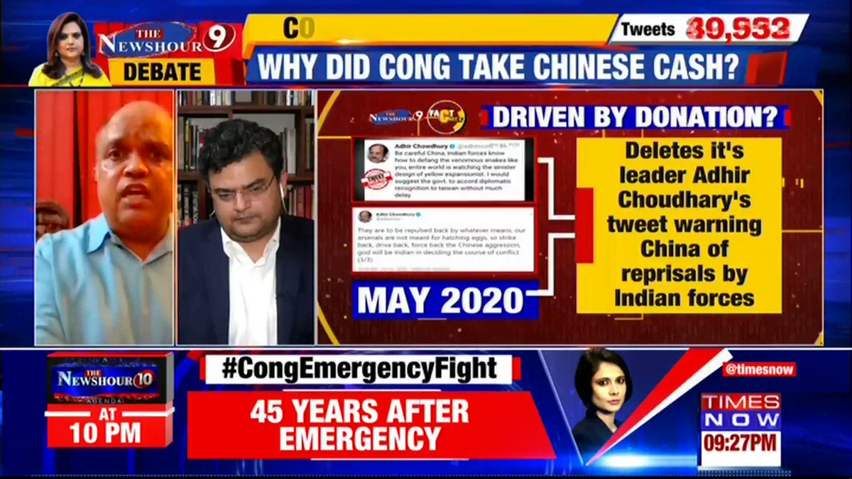 The Rajiv Gandhi Foundation appears to be like an offshore shell company. It is little more than a kennel for lapdogs.  My views on @TimesNow with @navikakumar, on the sordid history of the RGF in light of the Chinese donations.  #CongChinaFile