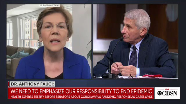 """Fauci: """"We are now having 40-plus thousand new cases a day. I would not be surprised if we go up to 100,000 a day if this does not turn around."""""""