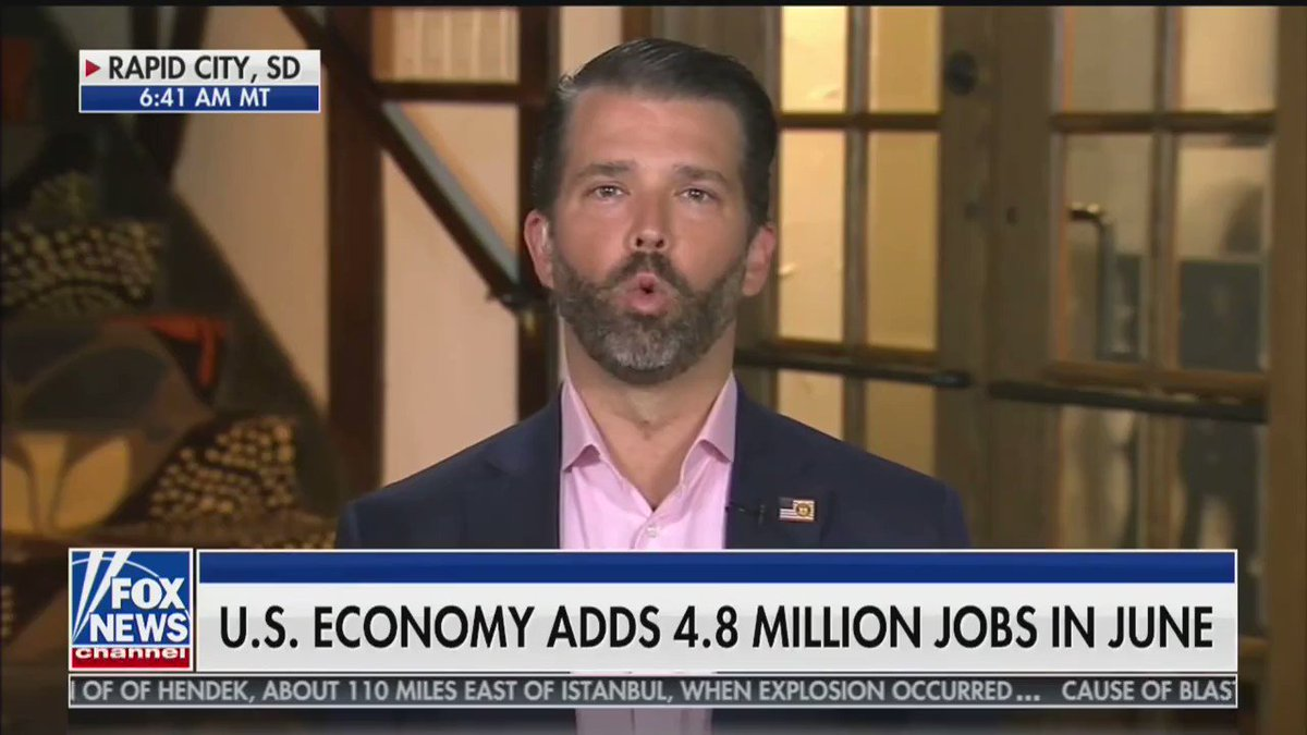 """.@DonaldJTrumpJr compares @realDonaldTrump and Biden's record on rebuilding America: """"If Joe Biden could do any of those things, why didn't he tell Obama? Why didn't he do any of them?"""""""