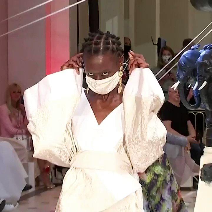 ICYMI: Masked models and social distancing marked German designer Anja Gockel's fashion show in Berlin #NewNormal