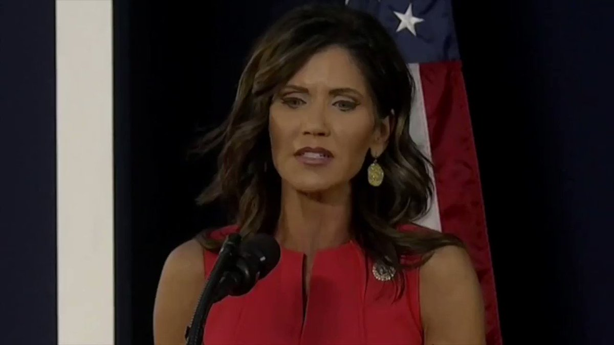 """South Dakota Gov. Kristi Noem: """"To attempt to cancel the founding generation is an attempt to cancel our own freedoms."""""""