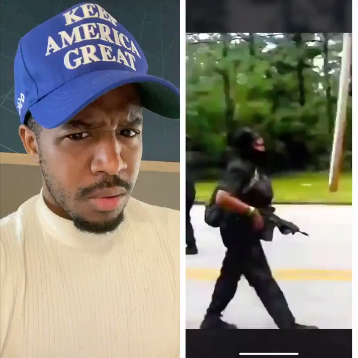 THIS IS A HATE CRIME!  The Black Panther Militia should be charged with a Hate Crime & Attempted Armed Robbery  Walking up to peope with their Guns Demanding Reparations  THE LEFT WANT A RACE WAR. That's why they pushed the Bubba Wallace & Smollett story