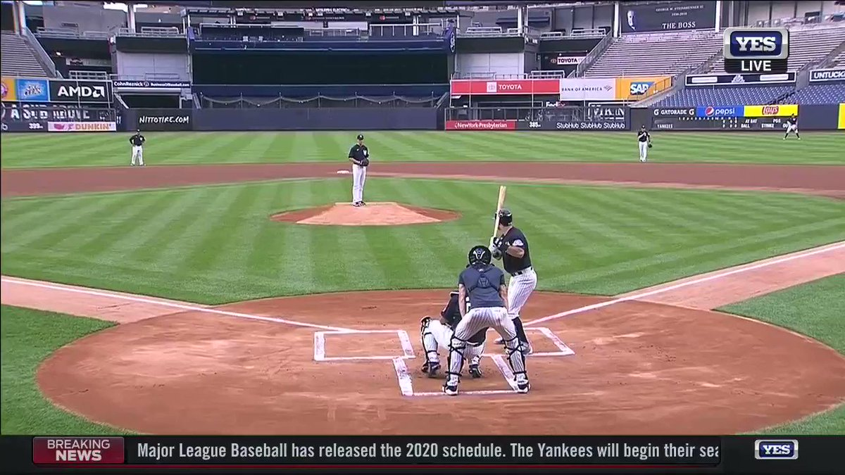 First pitch in the Bronx.  Watch NOW on YES!