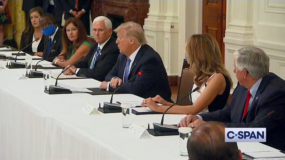 """TRUMP: """"We don't want people to make political statements...They think it's going to be good for them politically, so they keep the schools closed. No way...We're very much going to put pressure on governors & everybody...to open up the schools"""""""