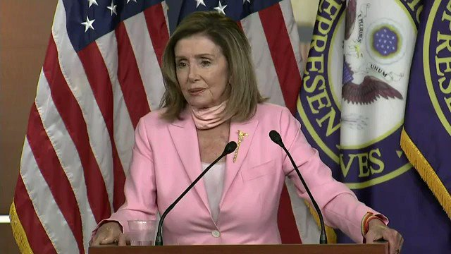 "Reporter asking about Christopher Columbus statue in Baltimore: ""Shouldn't that be done by a commission or the city council, not a mob in the middle of the night throwing it into a harbor?""  Speaker Nancy Pelosi: ""People will do what they do."""