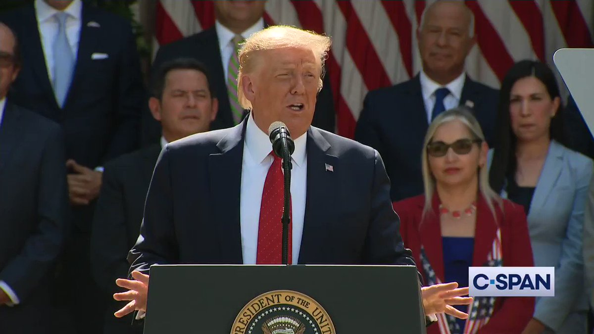 "ICYMI | Pres. Trump: ""Now Hispanic Americans... are watching as the cities they helped build... are being threatened by an extreme movement that wants to tear everything down. At the center of this movement is an aggressive movement to defund the police...these people are crazy."""