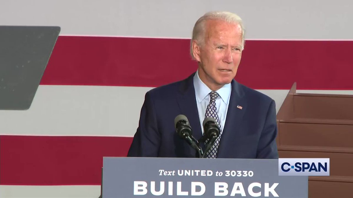 ".@JoeBiden: ""When it comes to COVID19, after months of doing nothing other than predicting the virus would disappear, or maybe if you drank bleach you may be okay, Trump has simply given up. He's waved the white flag. He's walked away."""