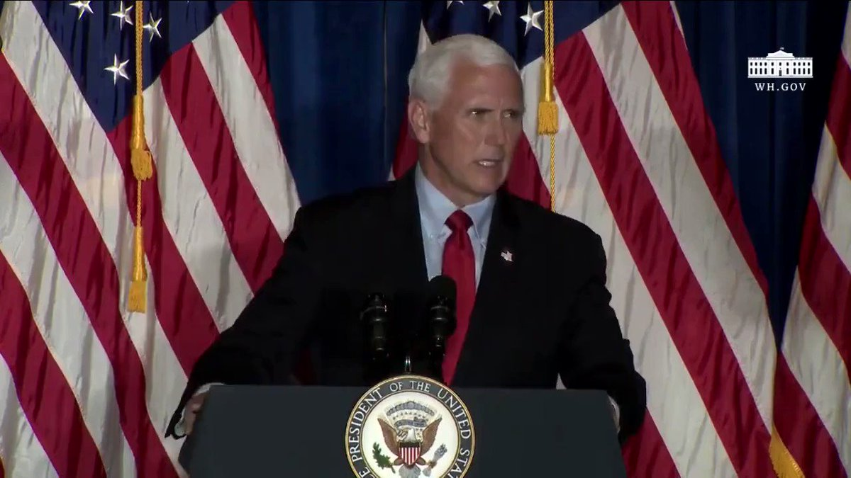 "VP @Mike_Pence: ""Just yesterday, Joe Biden said that well-armed police in his words 'become the enemy.' And he said that he would 'absolutely' cut funding for law enforcement.""  ""I want you to hear this directly from me... we're not going to #DefundThePolice. Not now, not ever!"""