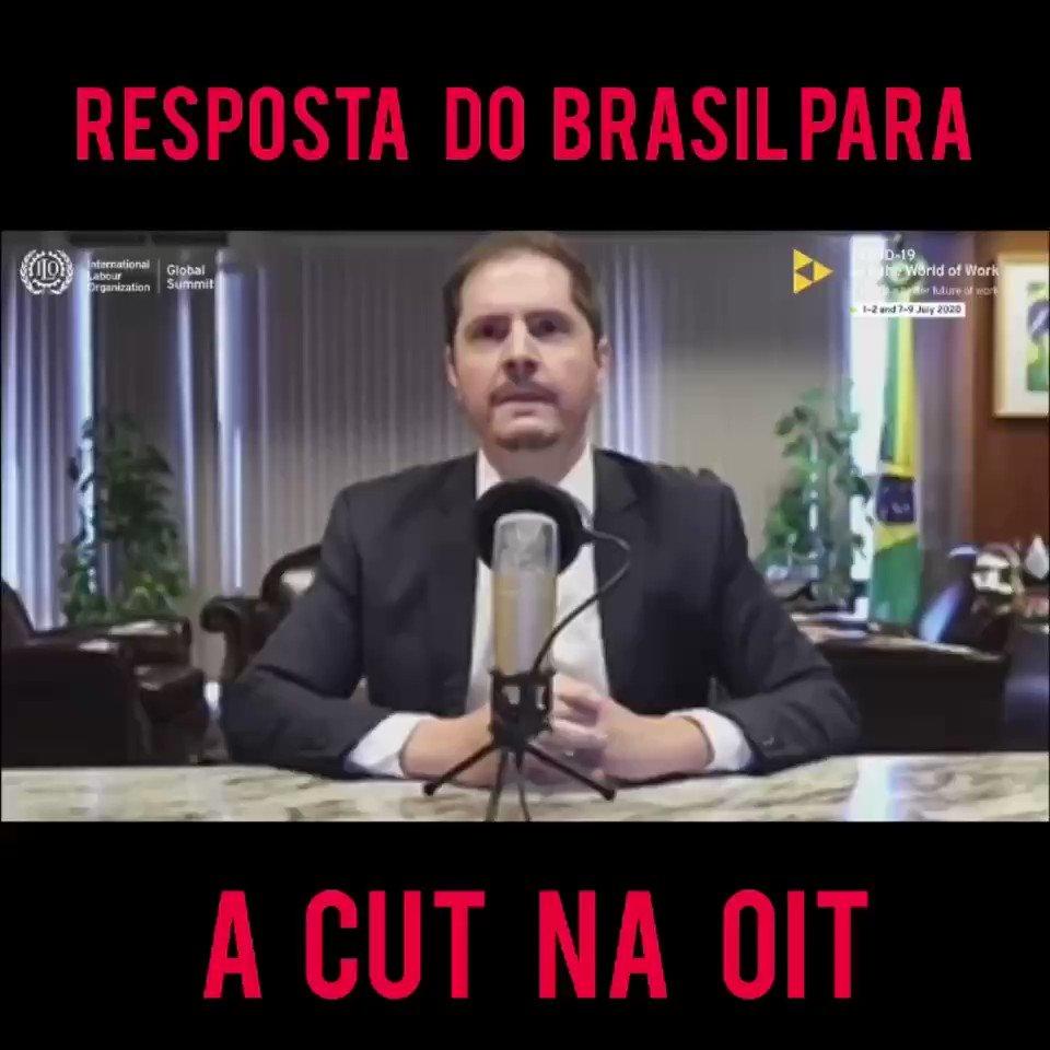Já passou da hora da CUT reconhecer que a maioria da população brasileira escolheu o @jairbolsonaro em eleições livres e justas, em processo eleitoral democrático, transparente e competitivo. Aos ataques oportunistas, respondemos trabalhando pelo Brasil e pelos brasileiros.