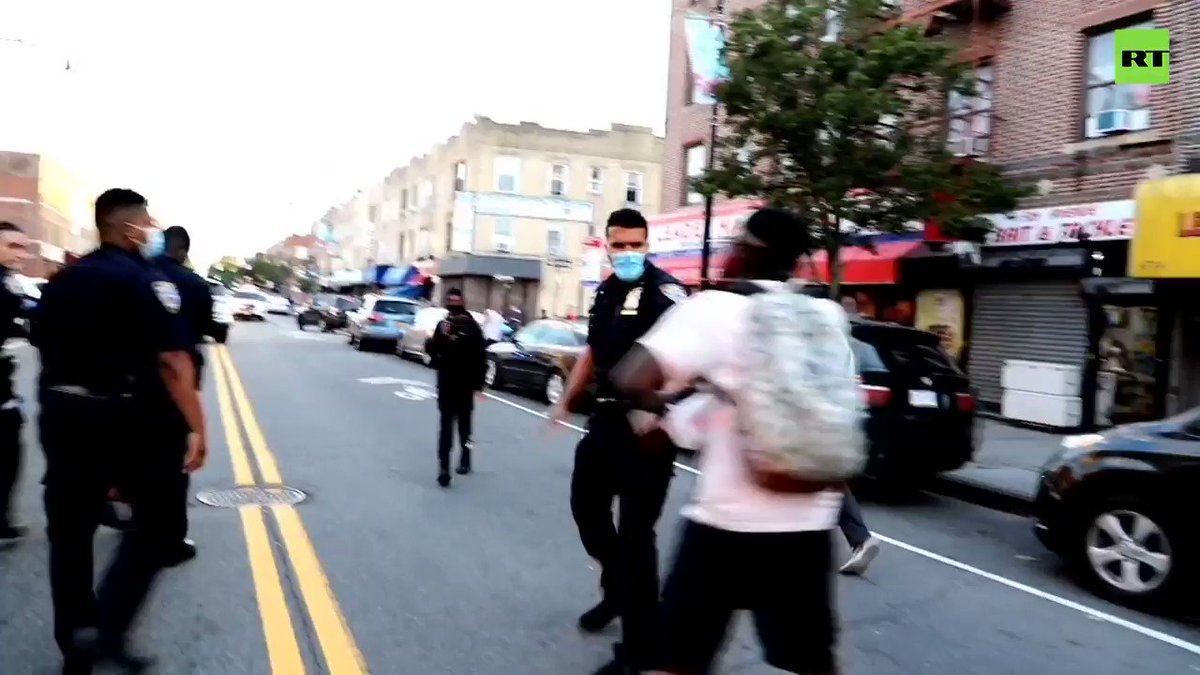 Police tase and arrest #BLM protester after confrontation in #NYC, Brooklyn