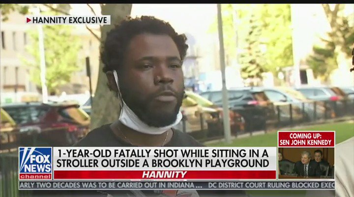 """.@seanhannity and @LawrenceBJones3 spoke to the parents of one-year-old Davell Gardner Jr. who was shot and killed in NYC:  """"Everybody talk about 'Black Lives Matter.' What about baby lives?.. You took an innocent child from a mother and a father..."""""""