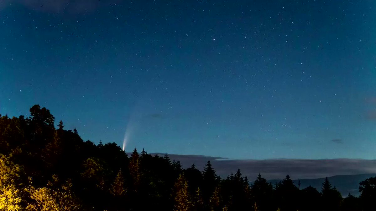 Take a look at this timelapse of comet Neowise captured by the Nayoro Observatory in Japan