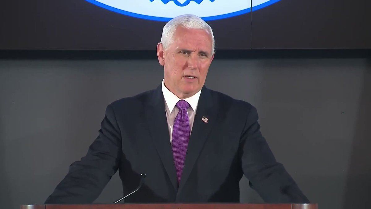 """.@Mike_Pence's message to the people of Louisiana ⬇️   """"We're going to stay with you every step of the way."""""""