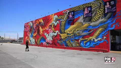 Lanny Love, owner of the Adult Superstores, commissioned a mural on the side of its location in Chinatown. The mural is said to commemorate Las Vegas reopening and the community's vibrant cultural arts scene. FOX5's Gai Phanalasy (@gaichicken) spoke w/ the artist about the piece.