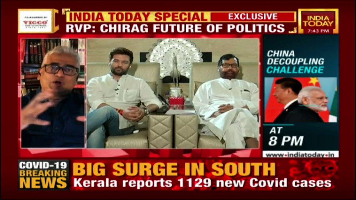 "#Exclusive ""...kadam kadam par ladna seekho...""  @irvpaswan recites a poem; ""Becoming CM of Bihar is not my ambition. ""My goal is to to get respect for Bihar,"" says @iChiragPaswan. Watch #IndiaTodayIndiaTomorrow with @sardesairajdeep LIVE at"