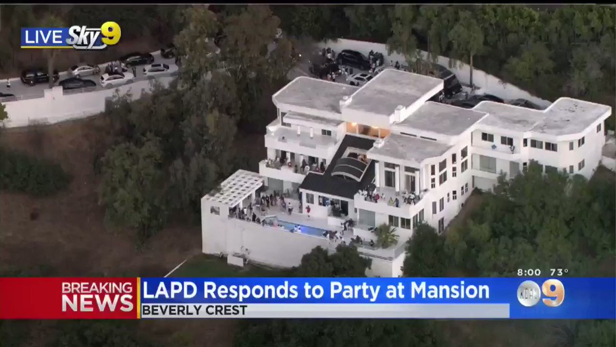 The LAPD is responding to a peaceful party at a mansion