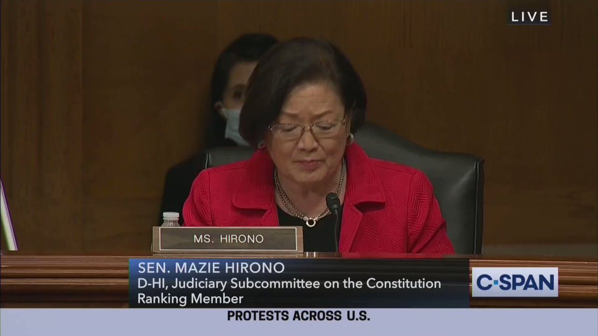 Hawaii Democrat senator storms out of room during hearing on antifa violence.