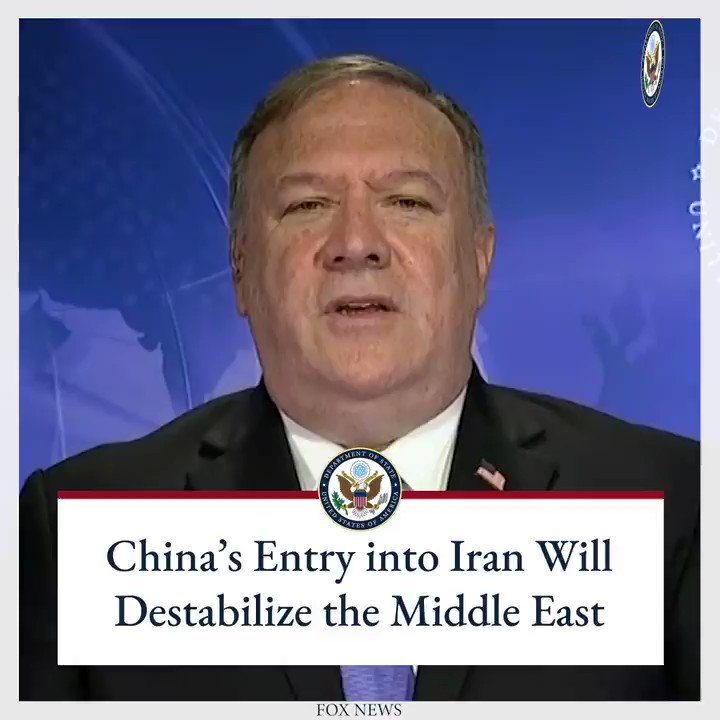Iran remains the world's largest state sponsor of terror, and for the Iranian regime to have access to weapons systems, money, and commerce from the Chinese Communist Party only compounds risk for the region.