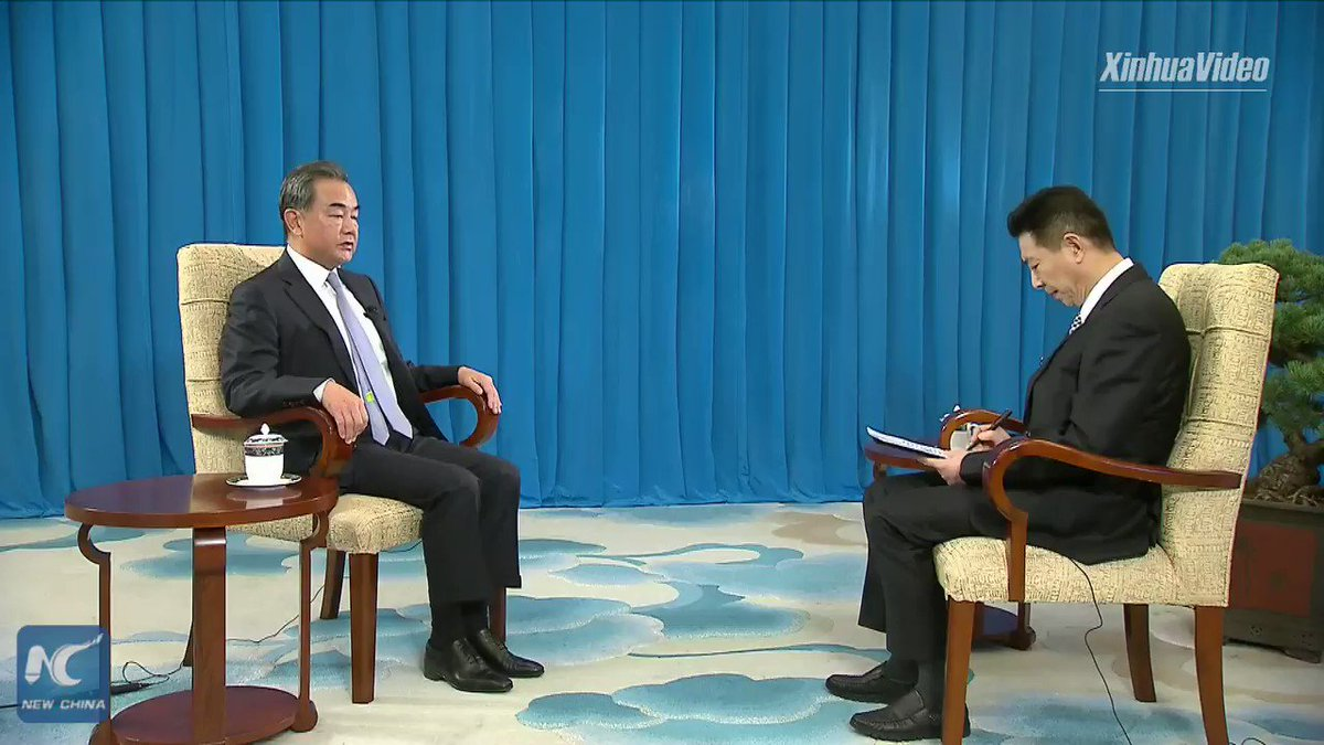 """China rejects any attempt to create a so-called """"new Cold War,"""" because it contravenes the fundamental interests of the Chinese and American peoples and the global trend toward development and progress, says Chinese State Councilor and Foreign Minister Wang Yi"""