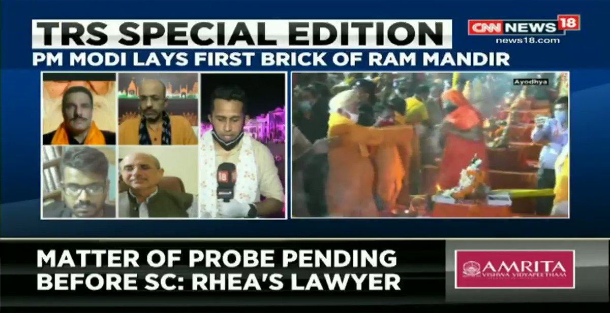 #MandirInAyodhya – I think the common Hindu whose faith in Lord Ram and in the civilizational ethos that Lord Ram represents and continues to represent, is unshakable and he stands vindicated: @jsaideepak (Lawyer) tells @AnchorAnandN on #TheRightStand.