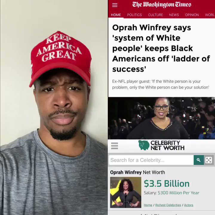 "SEND THIS MESSAGE TO OPRAH   @oprah let me school you on White Privelege and remind you that you are a BLACK BILLIONAIRE!  YOU SHOULD READ MY BOOK OPRAH WINFREY   How I went ""From the Foster House to the White House"" because This is America!   👉"
