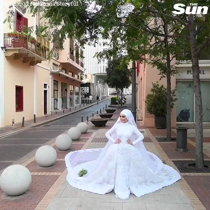 Bride in Lebanon 'happy to be alive' after wedding video captures Beirut blast
