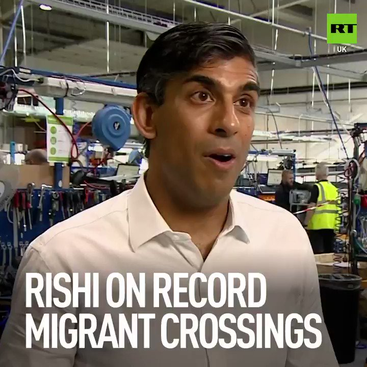 """I sympathise with their frustration at seeing these scenes.""   UK Chancellor Rishi Sunak as a record number of migrants were intercepted crossing the #EnglishChannel on Thursday."