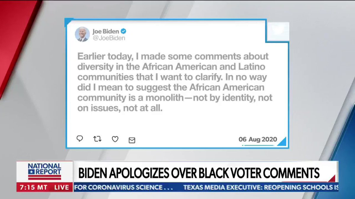 """""""He just gave a non-apology apology. He also said that if you basically vote Republican, you're going to be put back in chains.""""   @TheThomasGuide reacts to Biden's apology over black voter comments. """"Is this a gaffe or is this him actually telling what he thinks?"""""""