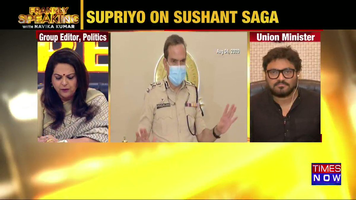 Nepotism does exist in Bollywood and even other industries too but this angle cannot dominate a criminal investigation: Union Minister @SuPriyoBabul tells Navika Kumar on #FranklySpeakingWithSupriyo.