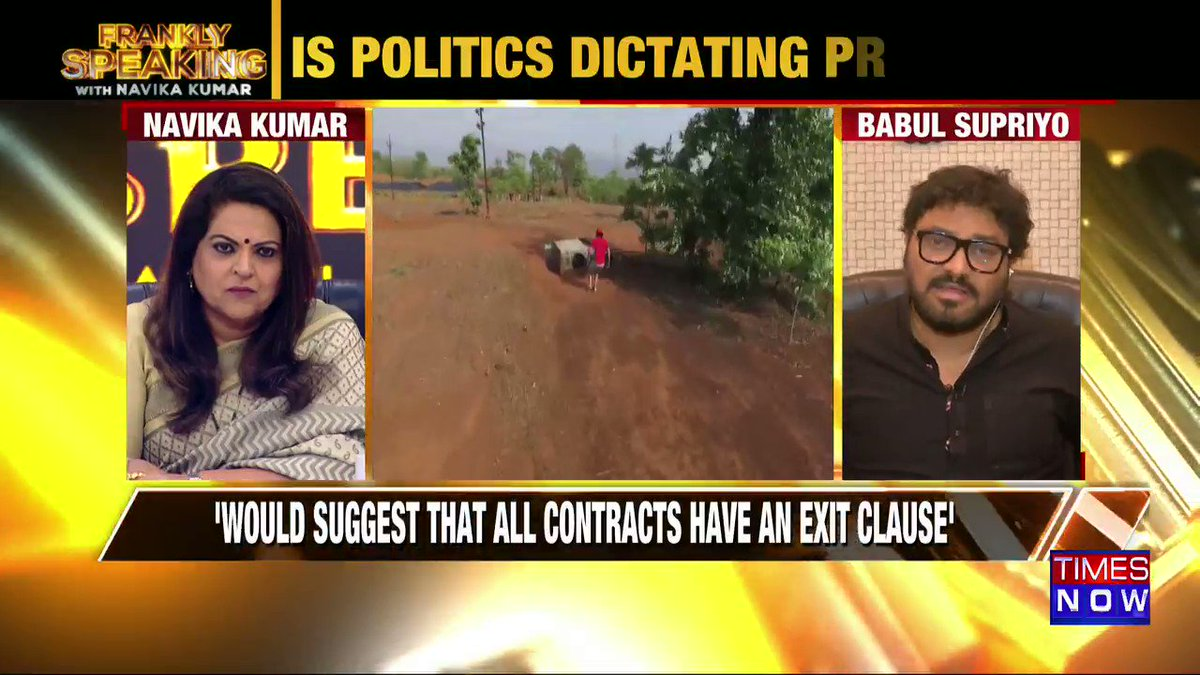 It is not the producer who forces the talent, sometimes even the talent puts pressure on themselves: Union Minister @SuPriyoBabul tells Navika Kumar on #FranklySpeakingWithSupriyo.