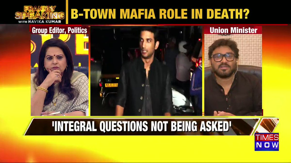 How can the police declare it a suicide case immediately: Union Minister @SuPriyoBabul tells Navika Kumar on #FranklySpeakingWithSupriyo.