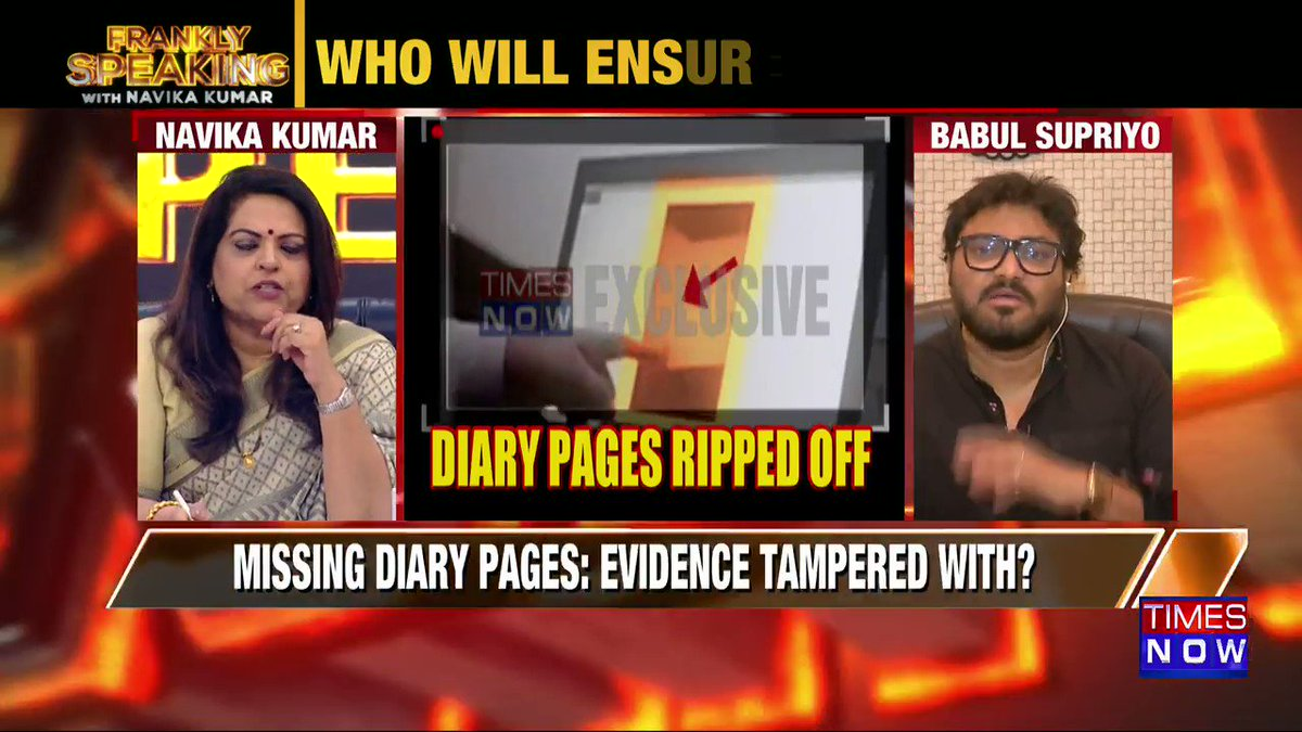 A person who had a habit of writing everything in a diary can't kill himself without leaving a note: Union Minister @SuPriyoBabul tells Navika Kumar on #FranklySpeakingWithSupriyo.